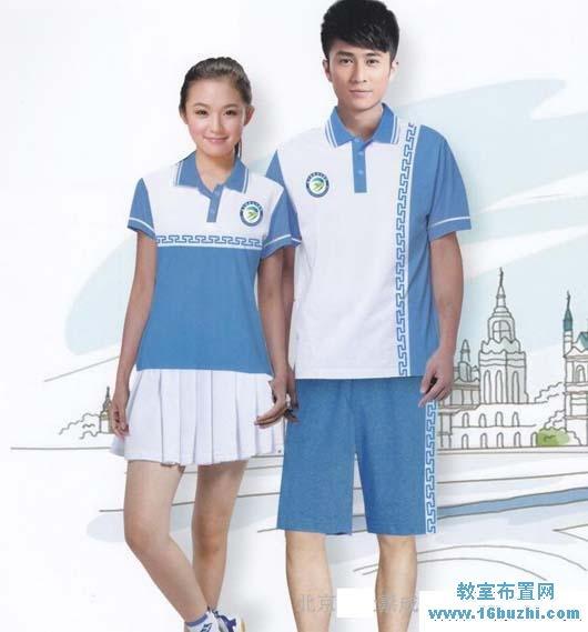 中学生夏季校服设计图片
