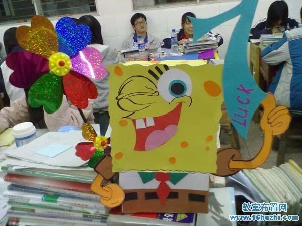 有创意的卡通学习小组组牌设计图片:海绵宝宝
