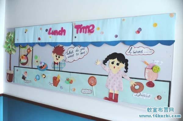 幼儿园餐厅墙面手工装饰图片