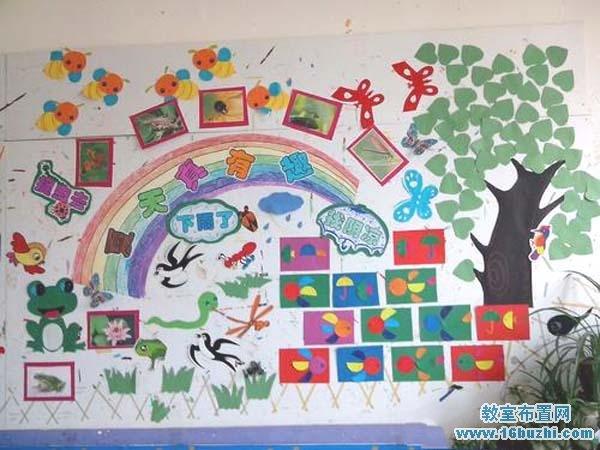 幼儿园教室夏天主题墙布置图片:夏天真有趣