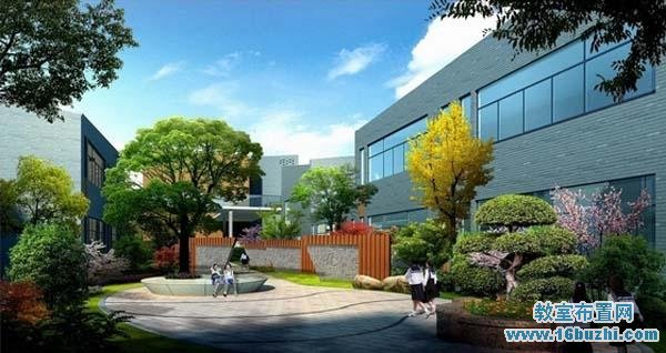 中学校园景观设计平面图图片