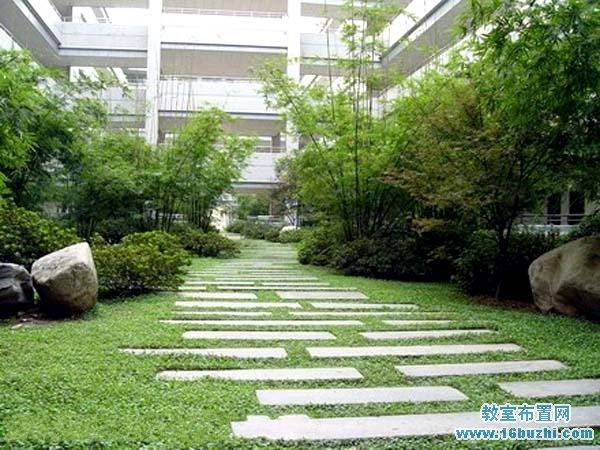 大学教学楼楼下中庭景观设计案例图片图片