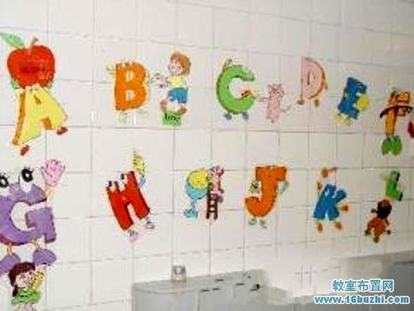 幼儿园英语角墙面字母装饰图片