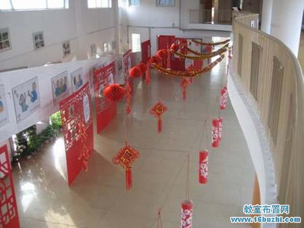 幼儿园大厅春节节日装扮图片
