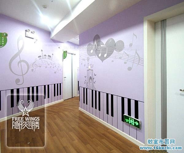 幼儿园音乐教室室外走廊墙面设计图片_教室布置网