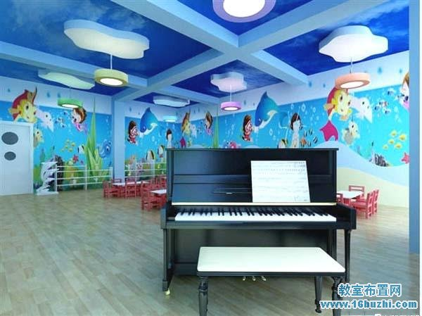 幼儿园音乐教室墙面贴纸装扮美化图片