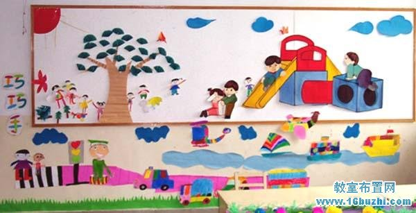 幼儿园美工区主题墙饰装饰图片 巧巧手