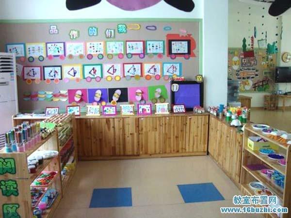幼儿园美工区环境布置图片 我们的作品