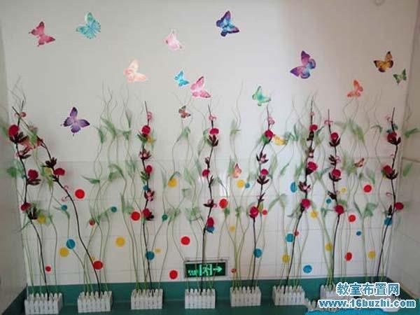 幼儿园楼道中国风布置图片:中国古典刺绣
