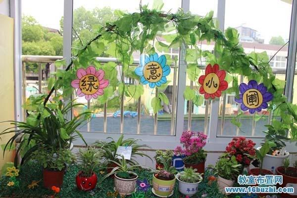 幼儿园春天自然角布置图片:绿意小圃