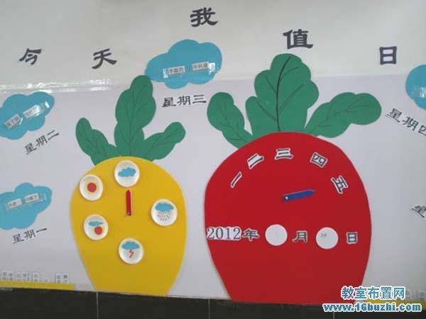 幼儿园值日生角墙面布置图片