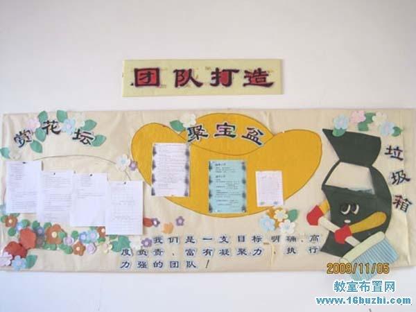 幼儿园教师办公室主题墙布置图片:团队打造