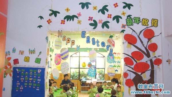幼儿园中班复活节教室门头挂饰装饰图片