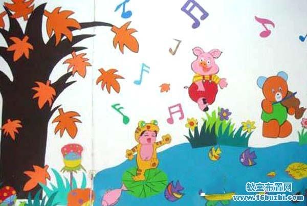 幼儿园音乐教室主题墙饰布置图片