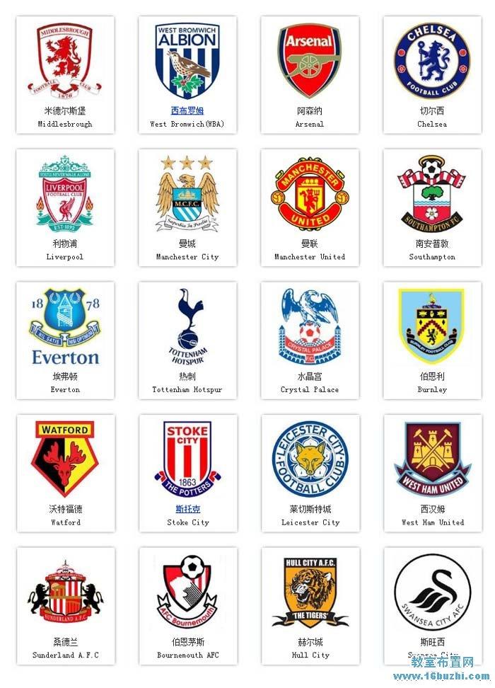 20支英超足球球队队徽队标图片大全图片