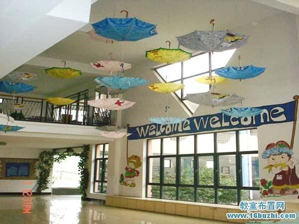 幼儿园门厅挂饰装饰布置图片:小雨伞