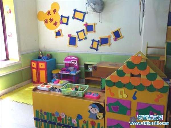 幼儿园建构区环境创设图片:米奇妙妙屋_教室布置网图片