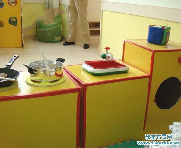 幼儿园厨房区角布置图片