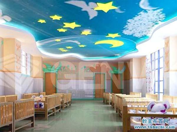 幼儿园寝室天花板设计案例图片