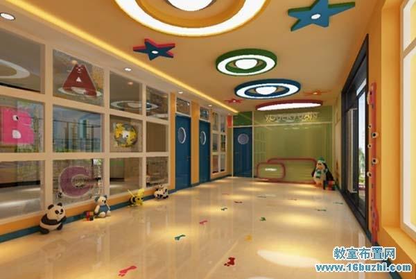 幼儿园楼道吊顶装修设计图片_教室布置网
