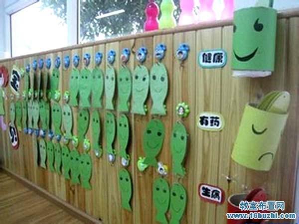 可爱漂亮的幼儿园晨检栏装饰设计图片