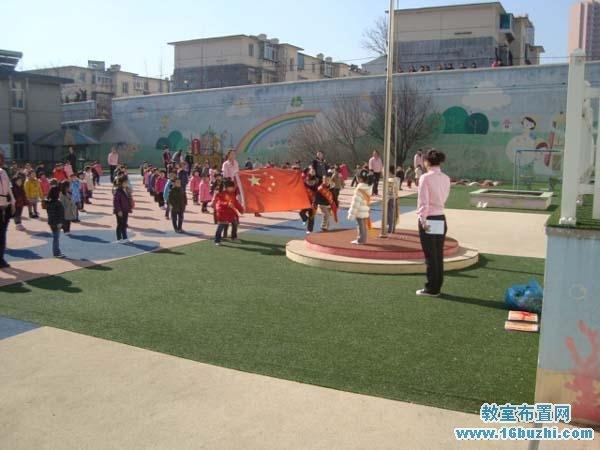 农村民办幼儿园旗台设计图片