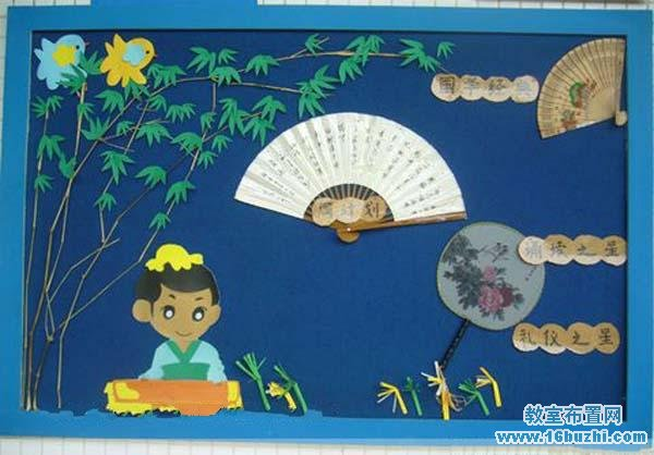幼儿园国学特色墙饰设计图片_教室布置网