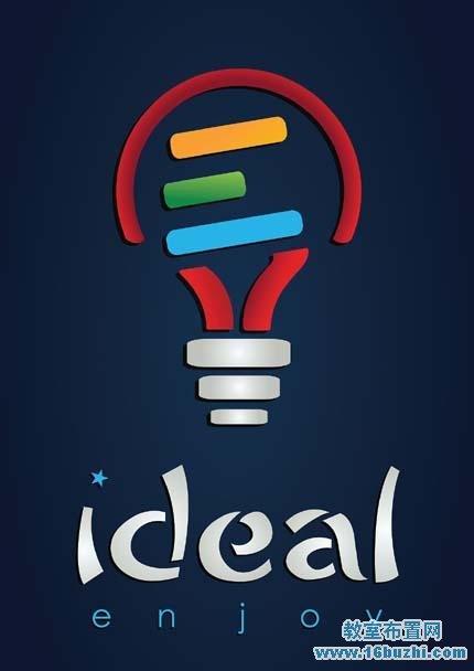 创意科技节节徽标志设计图片